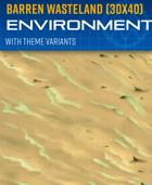 Barren Wasteland - Environment Background (30x40)