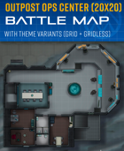Outpost Ops Center - Sci-fi Battle Map (20x20)