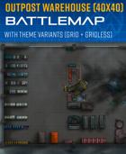 Outpost Warehouse - Sci-fi Battle Map (40x40)
