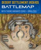 Desert Settlement - Sci-fi Battle Map (40x40)