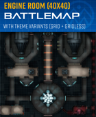 Modular Engine Room - Sci-fi Battle Map (40x40)