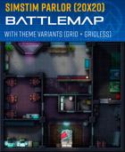 SimStim Parlor - Sci-fi Battle Map (20x20)