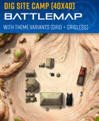 Archeological Dig Site Camp - Battle Map (40x40)