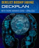 Derelict Bioship - Spaceship Deckplan