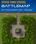 Statue Park - Battle Map (20x30)