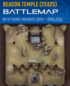 Beacon Temple - Sci-fi Battle Map (25x25)