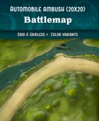 Automobile Ambush - Modern Battlemap (20x20)