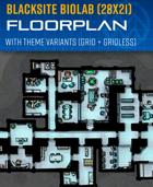 Blaksite Biolab - Sci-fi Floorplan (28x21)
