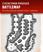 Catacomb Passage - Fantasy Battlemap