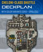 Cheloni-class Shuttle - Sci-fi Deckplan