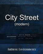 City Street (modern) - from the RPG & TableTop Audio Experts