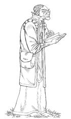 OE Stock Art - Elder Fey Male Scholar