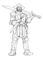 OE Stock Art - Conquistador with Sword
