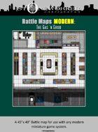 Battle Maps MODERN:  The Gas 'n Grub Convenience Store