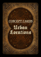 Concept Cards - Urban Locations