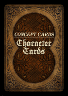 Concept Cards - Characters