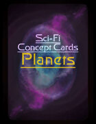 Sci-Fi Planets - Concept Cards