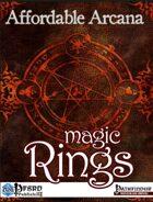 Affordable Arcana - Magic Rings (PFRPG)