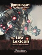 Thunderscape: Lost Lexicon, Part 1: Heart of the Machine