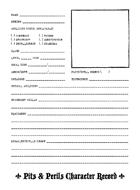 Pits & Perils Character Record