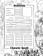 Barons of Braunstein Character Record