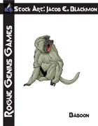Stock Art: Blackmon Baboon