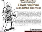 #1 With a Bullet Point: 7 Feats For Sword and Board Fighting