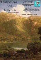 Distinctions & Demerits