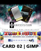 Card 02 - Styles & Effects (Modern Age) Gimp | Card Design Border for Prototypes |
