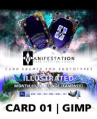 Card 01 - Illustrated (Past Age) Gimp | Card Game Design Template for Play-testing |