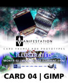 Card 04 - Illustrated (Modern Age) Gimp | Card Game Design Template for Play-testing |