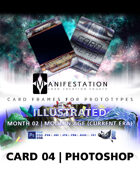 Card 04 - Illustrated (Modern Age) Photoshop + Gimp | Card Game Design Template for Play-testing |
