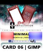 Card 06 - Minimal (Tarot) Gimp | Card Design Template for Prototyping |