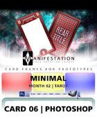 Card 06 - Minimal (Tarot) Photoshop + Gimp | Card Design Template for Prototyping |