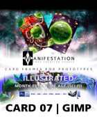 Card 07- Illustrated (Future Age) Gimp | Card Game Design Template for Play-testing |