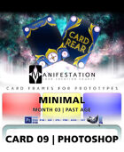 Card 09 - Minimal (Past Age) Photoshop + Gimp | Card Design Template for Prototyping |