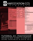 Photoshop Trading Card Game Design - TUTORIAL 01: Managing Card Elements Using Variables & Data Sets