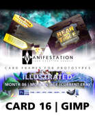 Card 16 - Illustrated (Modern Age) Gimp | Card Game Design Template for Play-testing |