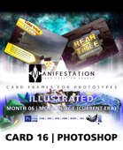 Card 16 - Illustrated (Modern Age) Photoshop + Gimp | Card Game Design Template for Play-testing |