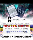 Card 17 - Styles & Effects (Future Age) Photoshop + Gimp   Card Design Border for Prototypes  