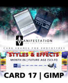 Card 17 - Styles & Effects (Future Age) Gimp | Card Design Border for Prototypes |