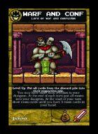 Warf And Conf - Custom Card
