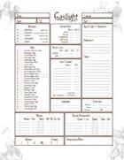 Gaslight Savage Worlds Character Sheet