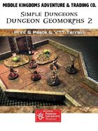 Simple Dungeons: 2.5Dungeon Geomorphs Set 2