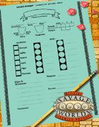Basic Savage Worlds Fantasy Character Record Sheet