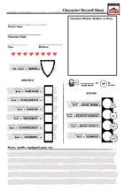 Basic ICRPG Character Record Sheet
