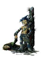 RPG Fantasy Character, Male, Halfling Thief