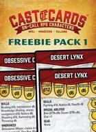 Cast of Cards: Freebie Pack 1 (Fantasy)