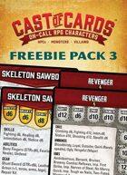 Cast of Cards: Freebie Pack 3 (Fantasy & Modern)
