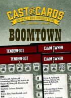 Cast of Cards: Boom Town (Modern)